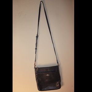 Coach navy crossbody purse